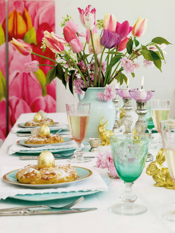 Easy Easter Centerpieces And Table Settings For Spring Holiday_36