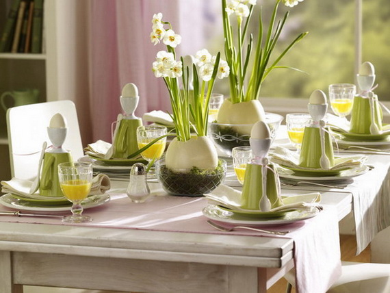 Easy Easter Centerpieces And Table Settings For Spring Holiday_40