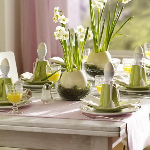 Easy Easter Centerpieces And Table Settings For Spring Holiday_44