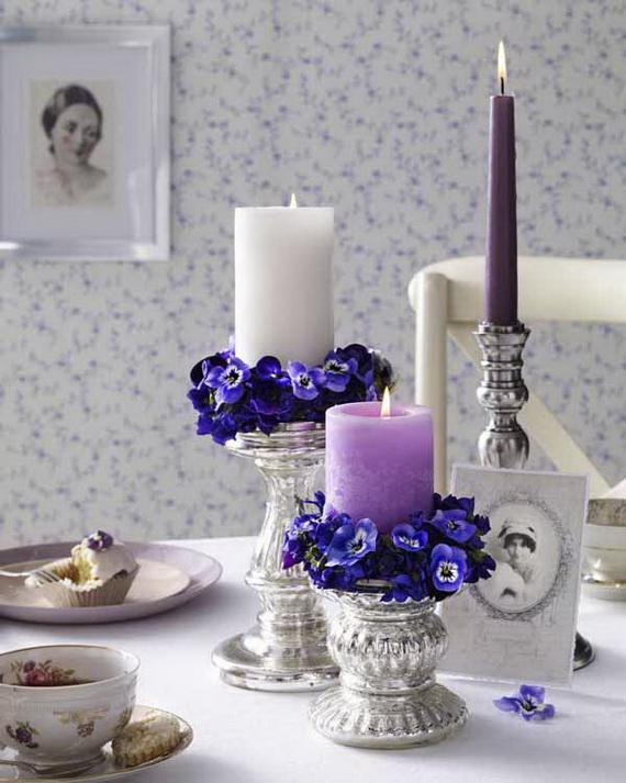 Veilchen: Kerzen