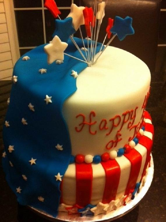 Adorable 4th of July Cake  Designs Ideas (40)