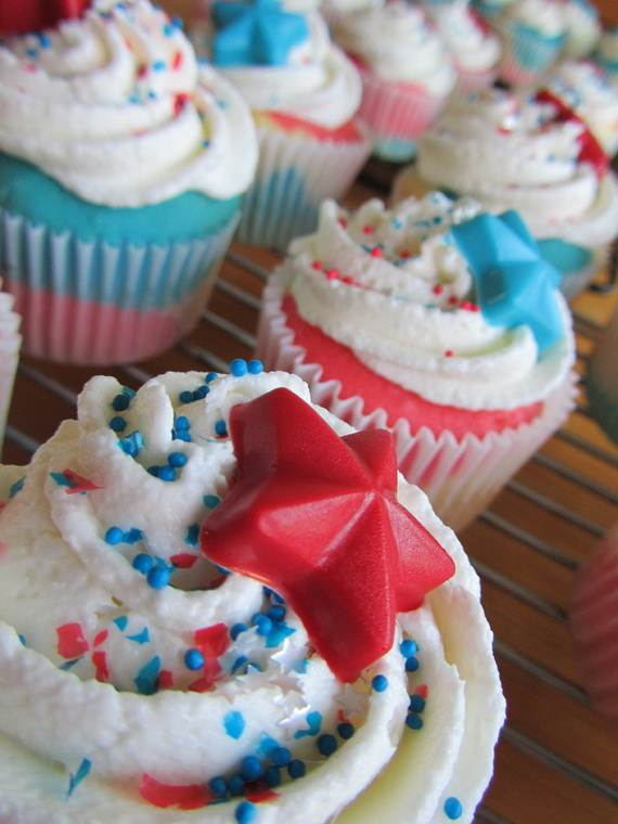 Spectacular Red, Blue, and White Cupcake Decorating Ideas (13)