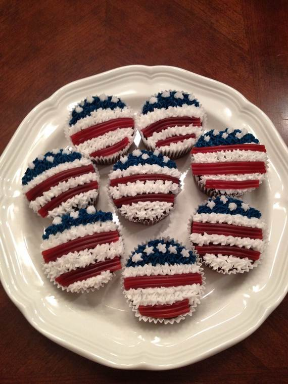 Spectacular Red, Blue, and White Cupcake Decorating Ideas (17)