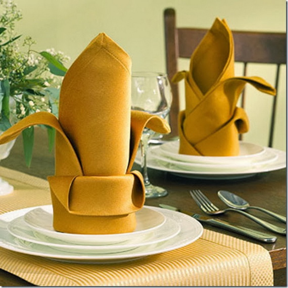 Creative Napkin Folds for Your Holiday Table (6)