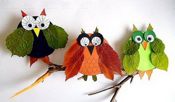 Fall Crafts With Children – Owl Handicraft For Cozy Hours (26)