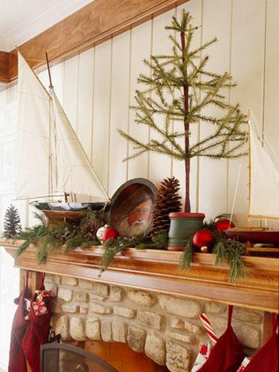 35 Gorgeous Holiday Mantel Decorating Ideas with Pine cones_05