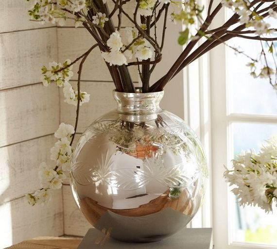 Beautiful Mercury Glass Decorations For Your Coming Holidays _34