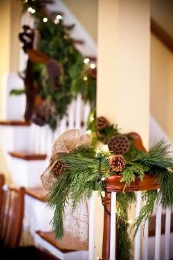 Festive Holiday Staircases and Entryways_25