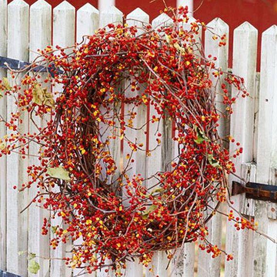 Splendid Fall Wreaths & Door Decoration Ideas And Inspiration_011