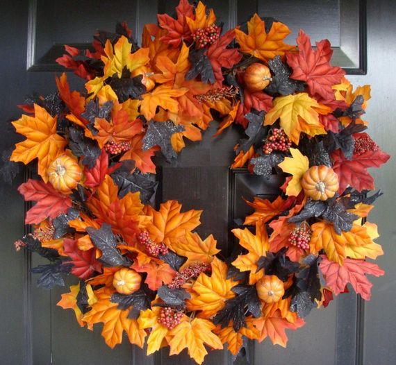 Splendid Fall Wreaths & Door Decoration Ideas And Inspiration_017