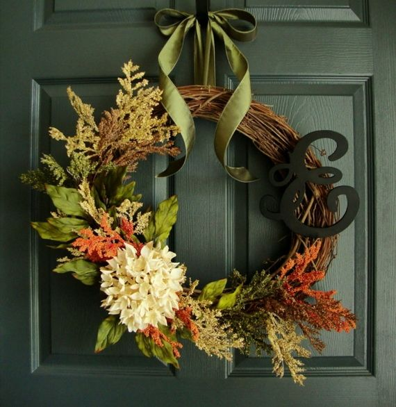 Splendid Fall Wreaths & Door Decoration Ideas And Inspiration_022