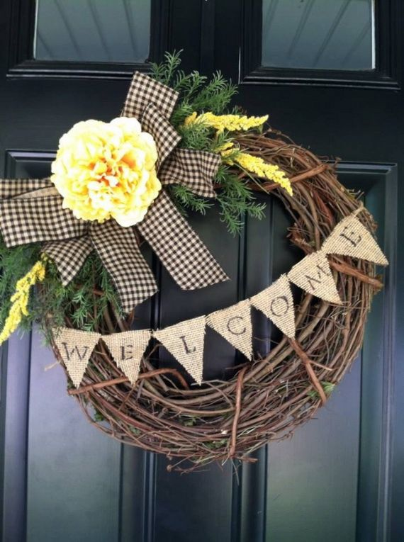 Splendid Fall Wreaths & Door Decoration Ideas And Inspiration_033