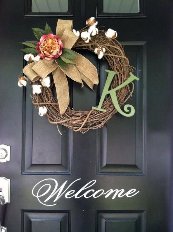 Splendid Fall Wreaths & Door Decoration Ideas And Inspiration_051