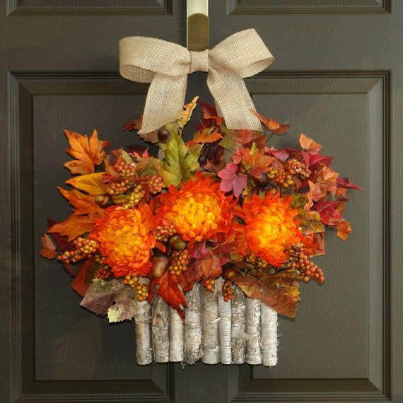 Splendid Fall Wreaths & Door Decoration Ideas And Inspiration_052