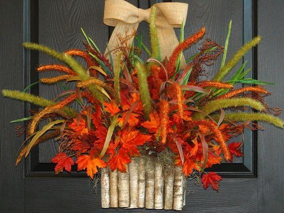 Splendid Fall Wreaths & Door Decoration Ideas And Inspiration_058