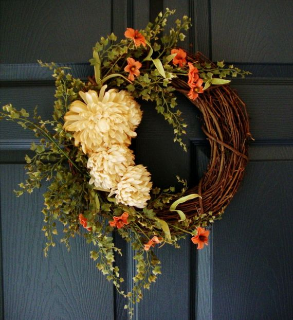Splendid Fall Wreaths & Door Decoration Ideas And Inspiration_060