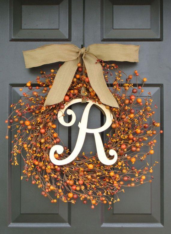 Splendid Fall Wreaths & Door Decoration Ideas And Inspiration_077