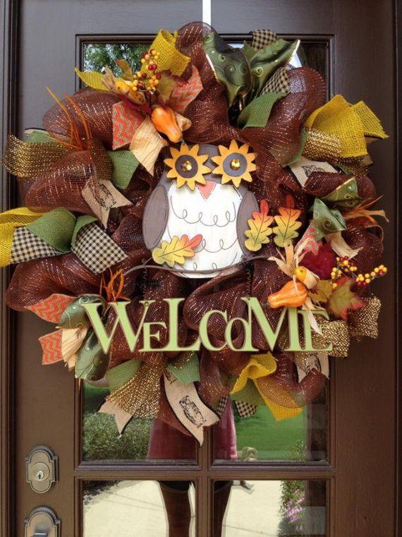 Splendid Fall Wreaths & Door Decoration Ideas And Inspiration_106