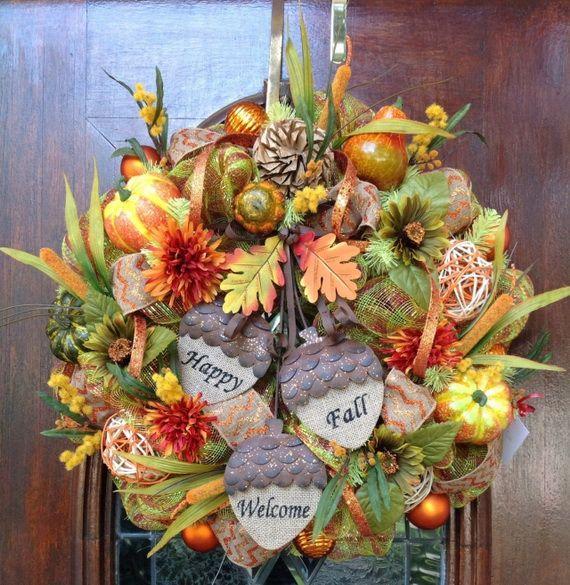 Splendid Fall Wreaths & Door Decoration Ideas And Inspiration_110