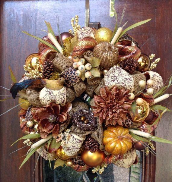 Splendid Fall Wreaths & Door Decoration Ideas And Inspiration_111