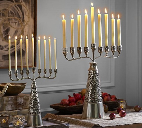 Classic and Elegant Hanukkah decor ideas_03