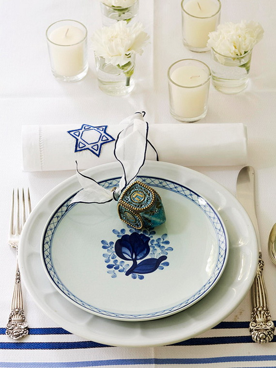 Classic and Elegant Hanukkah decor ideas_11