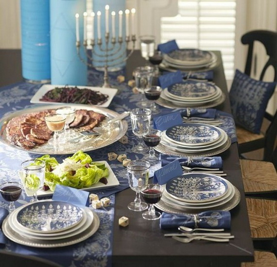 Classic and Elegant Hanukkah decor ideas_20
