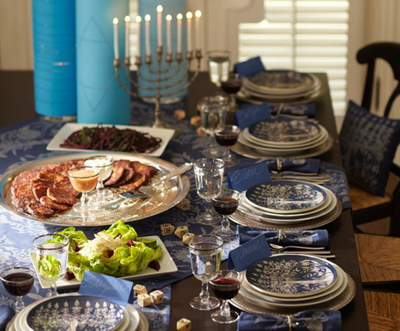 Classic and Elegant Hanukkah decor ideas_32