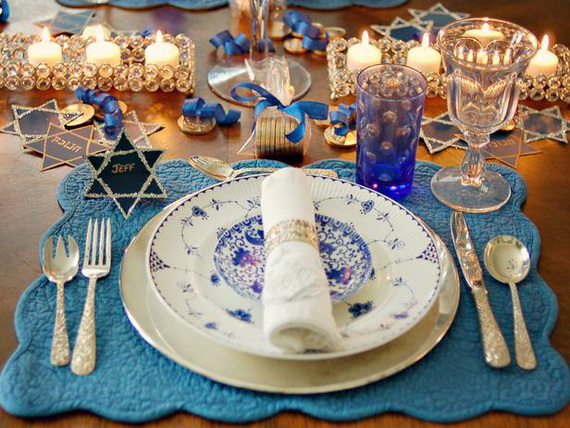 Classic and Elegant Hanukkah decor ideas_61