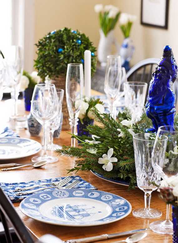 Classic and Elegant Hanukkah decor ideas_72