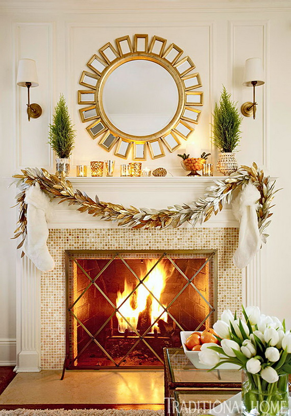 Creative Holiday In Gold Decorating Ideas_38