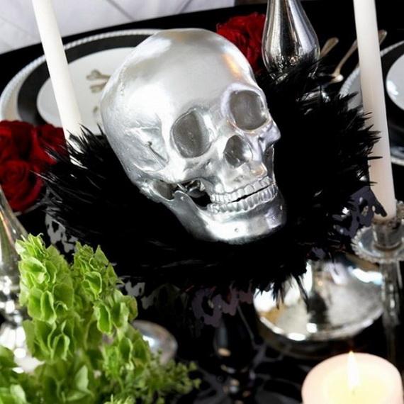 Whimsical Spooky Halloween Table Decoration Wedding Ideas _12