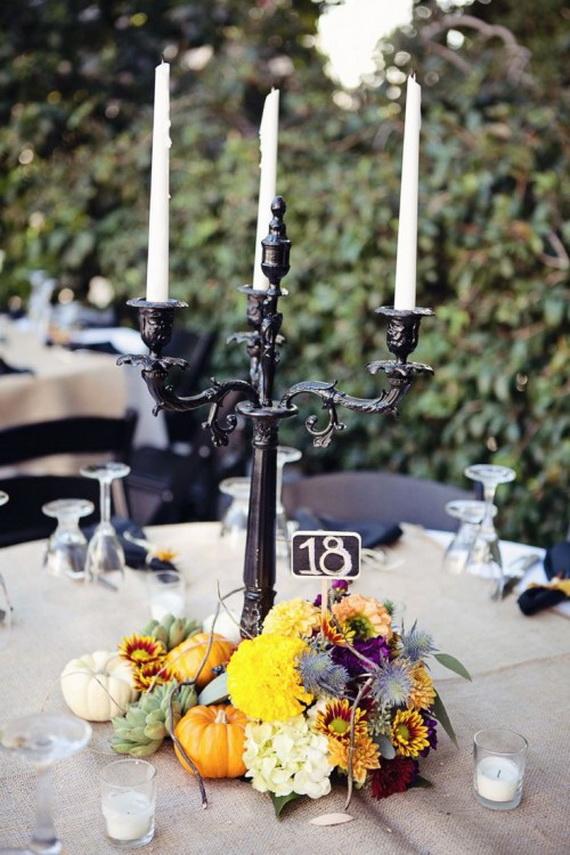 Whimsical Spooky Halloween Table Decoration Wedding Ideas _18