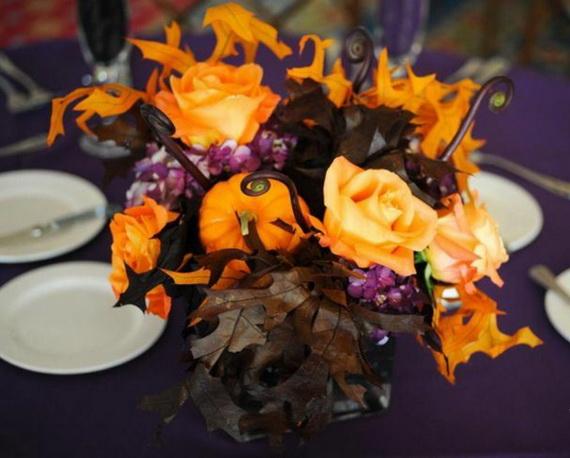 Whimsical Spooky Halloween Table Decoration Wedding Ideas _30