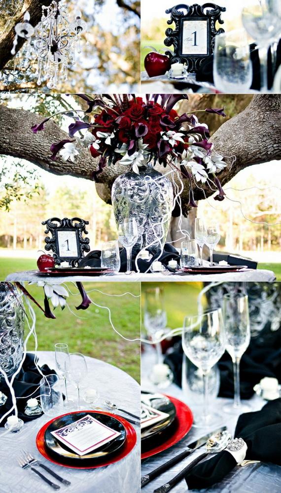 Whimsical Spooky Halloween Table Decoration Wedding Ideas _32