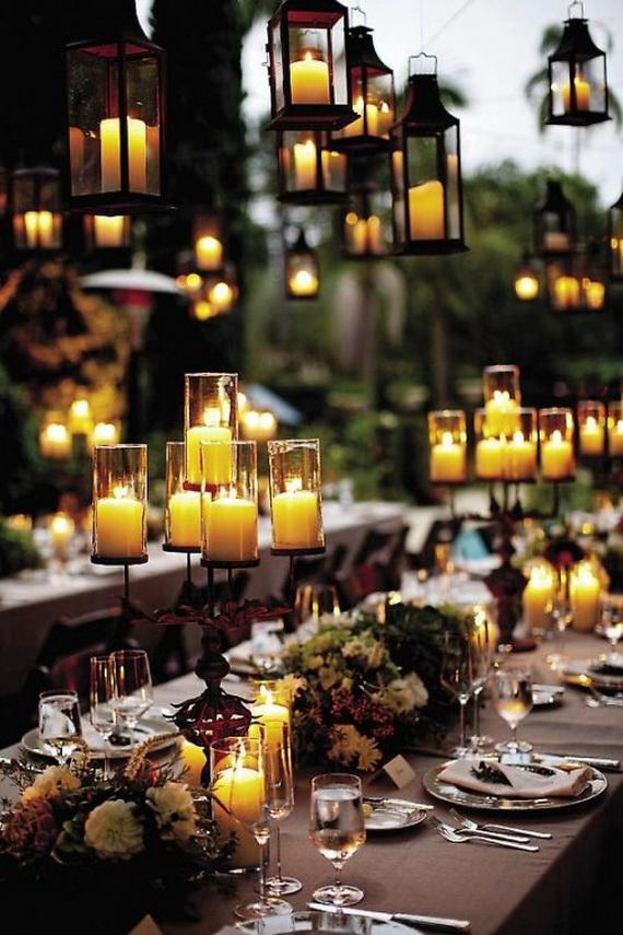 Whimsical Spooky Halloween Table Decoration Wedding Ideas _47
