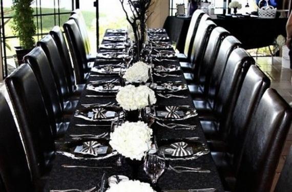 Whimsical Spooky Halloween Table Decoration Wedding Ideas _49
