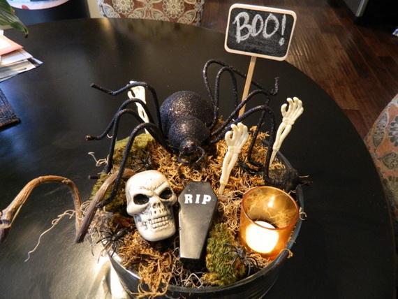 Whimsical Spooky Halloween Table Decoration Wedding Ideas _64