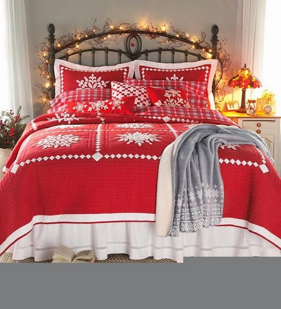 Adorable Bedroom Decor Ideas For Christmas and Special Occasion _25