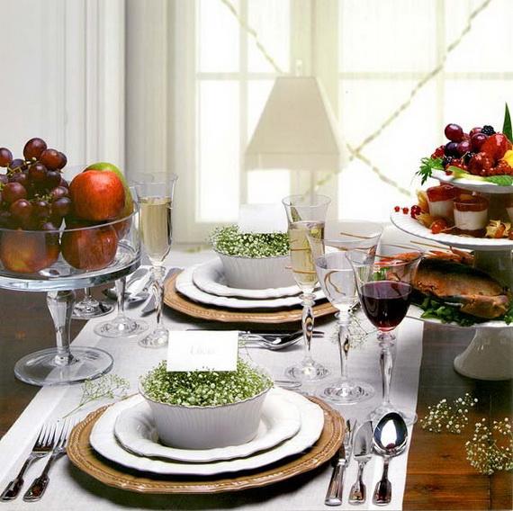 Amazing Christmas Dinner Table Decoration Ideas_04