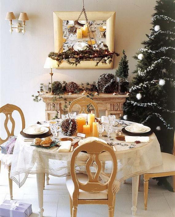 Amazing Christmas Dinner Table Decoration Ideas_05