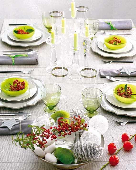 Amazing Christmas Dinner Table Decoration Ideas_14