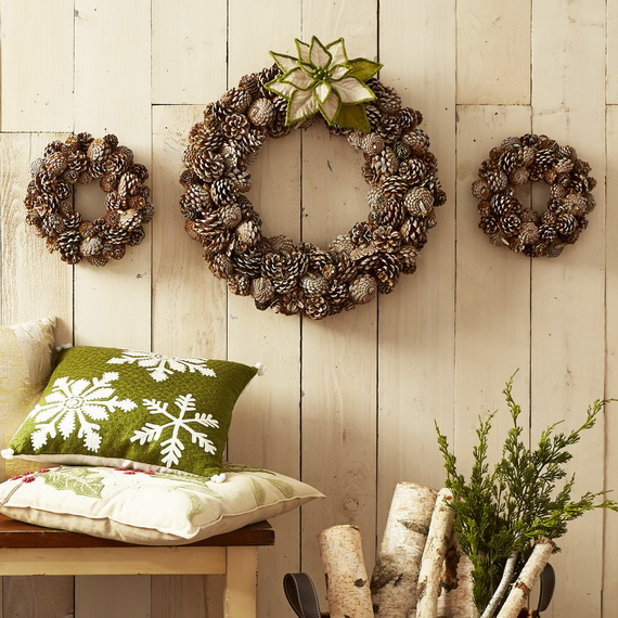 Creative Christmas Wreath Decor Ideas_05