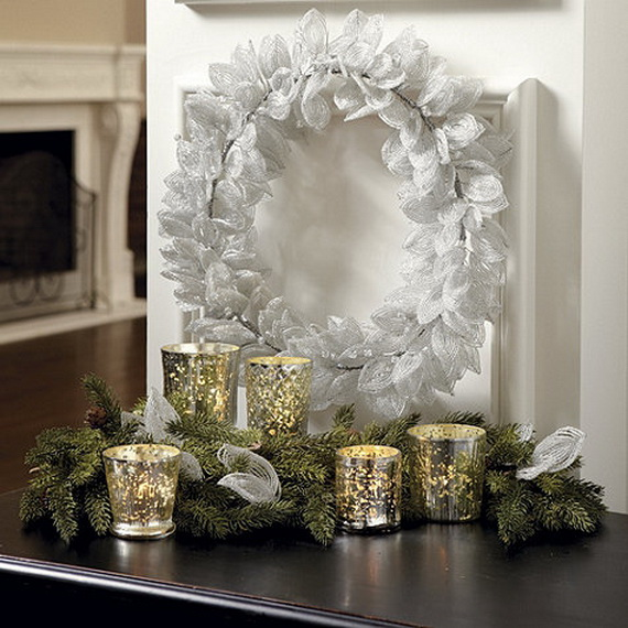 Creative Christmas Wreath Decor Ideas_59
