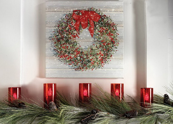 Creative Christmas Wreath Decor Ideas_72