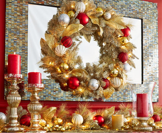 Creative Christmas Wreath Decor Ideas_75