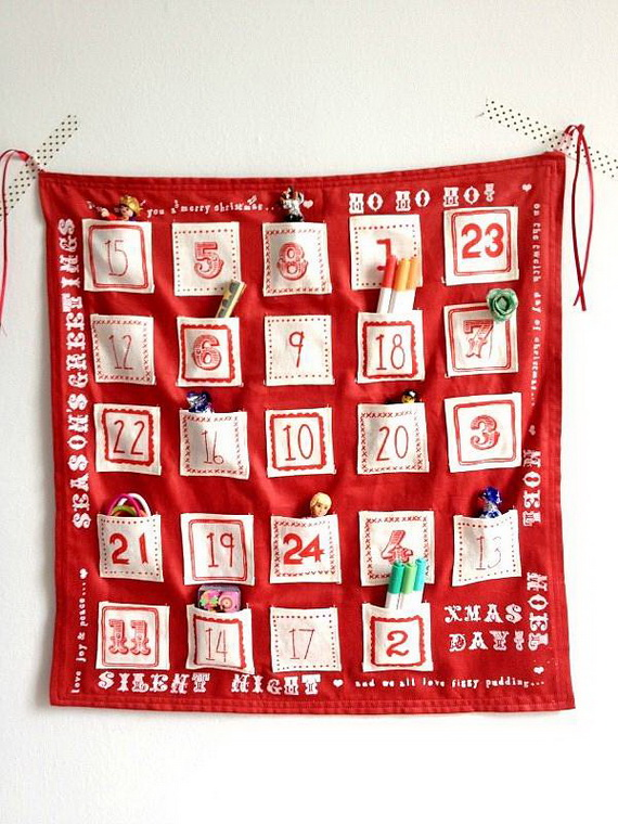 Fun Christmas Crafts With 50 Great Homemade Advent Calendars Ideas_29