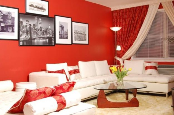 Hot Valentine Room Designs in Rich and Energetic Red Colors   (1)