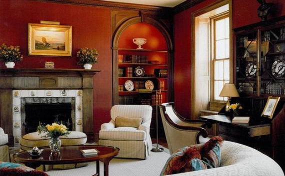 Hot Valentine Room Designs in Rich and Energetic Red Colors   (10)