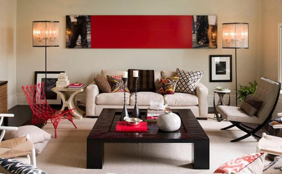 Hot Valentine Room Designs in Rich and Energetic Red Colors   (11)